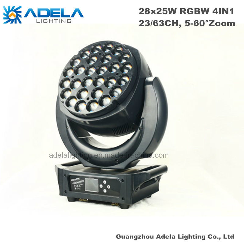 28X 25W High Power LED Moving Head Wash Light