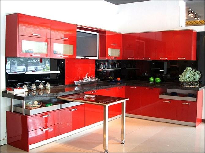 China Glossy Customized Wood Acrylic Kitchen Cabinets for ...