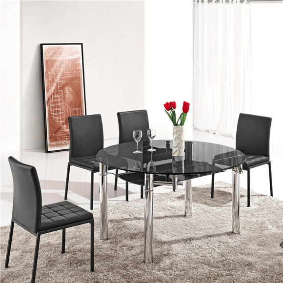 China Extendable Round Glass Dining Table For Sale L801a China Round Glass Dining Table Extendable Glass Dining Table