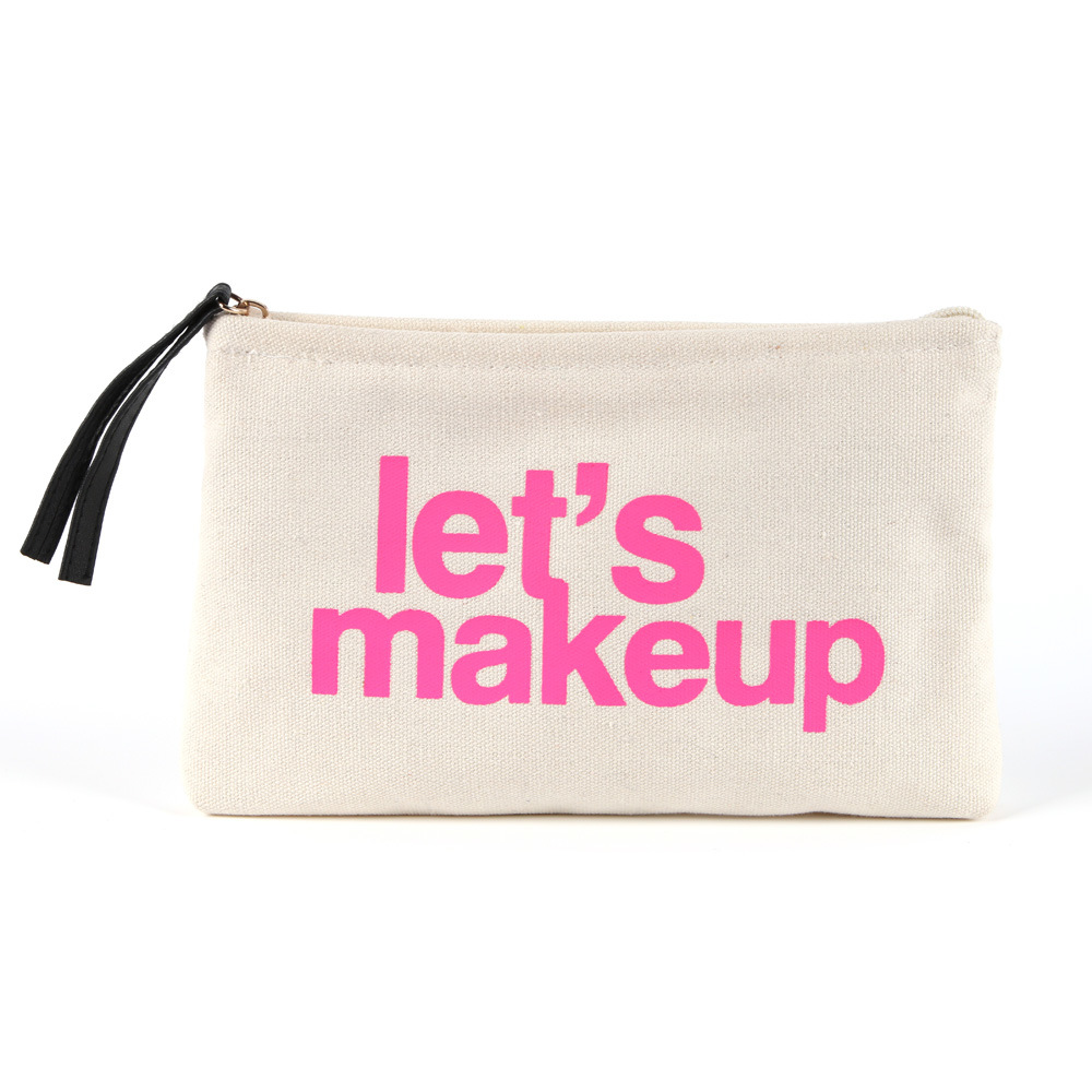 Canvas Promotional Makeup Bag