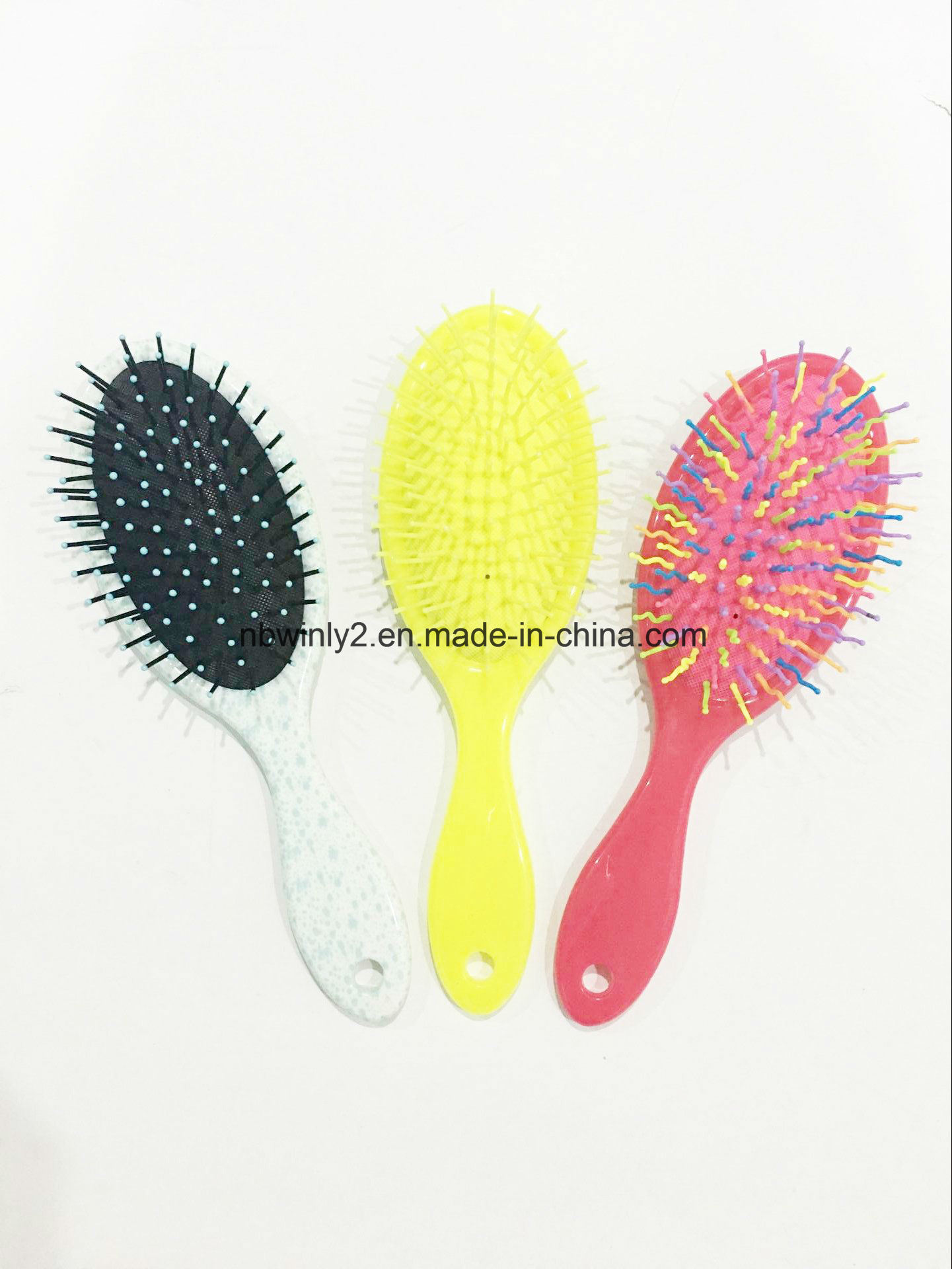 Large Oval Plastic Hair Brush