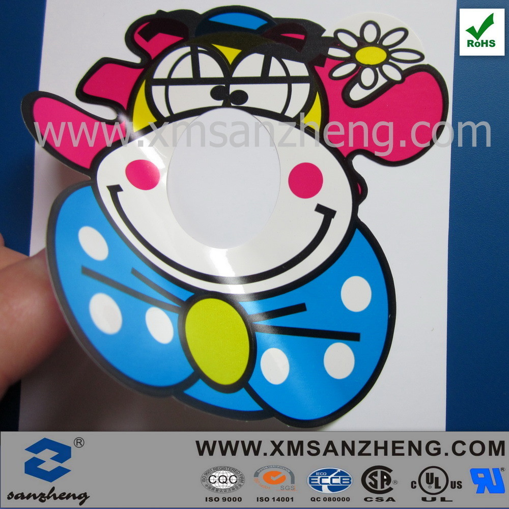China removable pvc sticky weather resistant colorful clear variable information stickers china cartoon sticker kids cartoon stickers