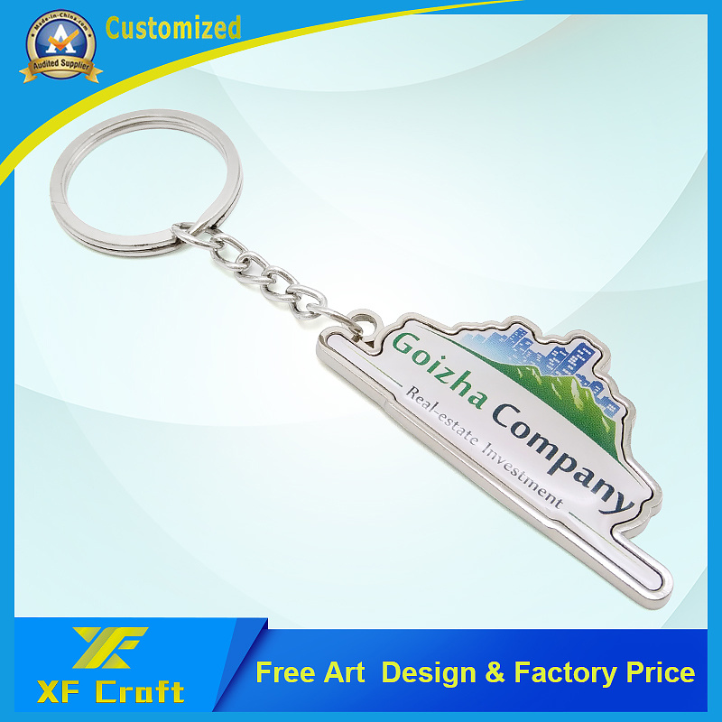 China Customized Metal Company Logo Key Chain For Promotion Kc12 Ring Holder