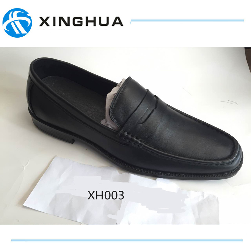 China Best Quality Police Office Leather Shoes Hand Make Men