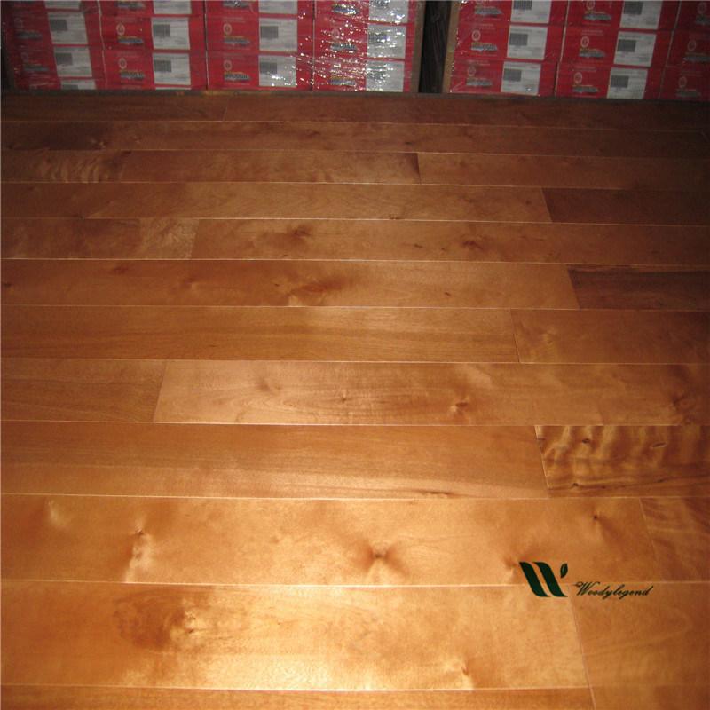 90mm Cinnamon Solid Birch Wood Flooring