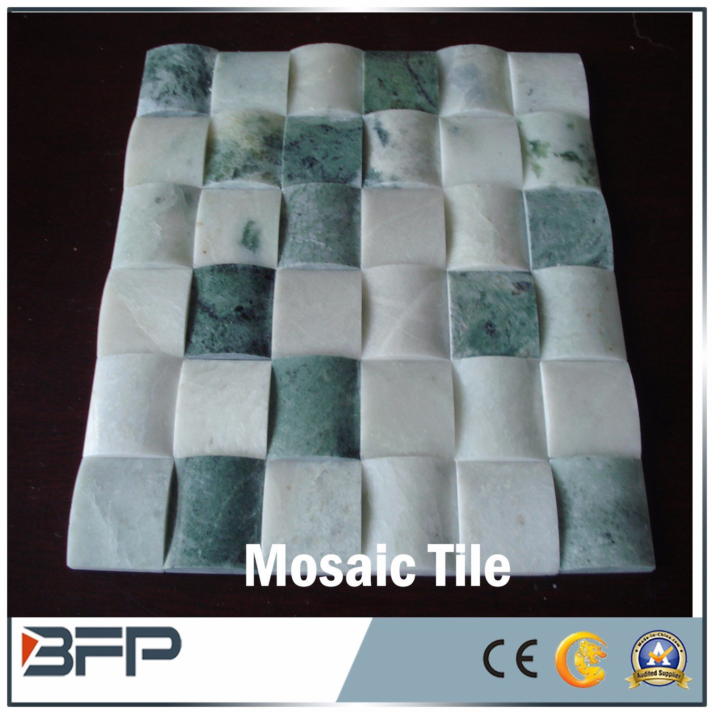 China Natural Travertine / Marble Stone Mosaic for Bathroom Wall ...