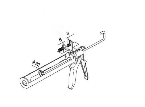 China Cordless Heavy Duty Pressure Gun Caulking Gun Manual Tools