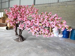 China Direct Factory Hot Artificial Cherry Blossom Wedding Tree Pink White Red For Indoor And Outdoor Decoration