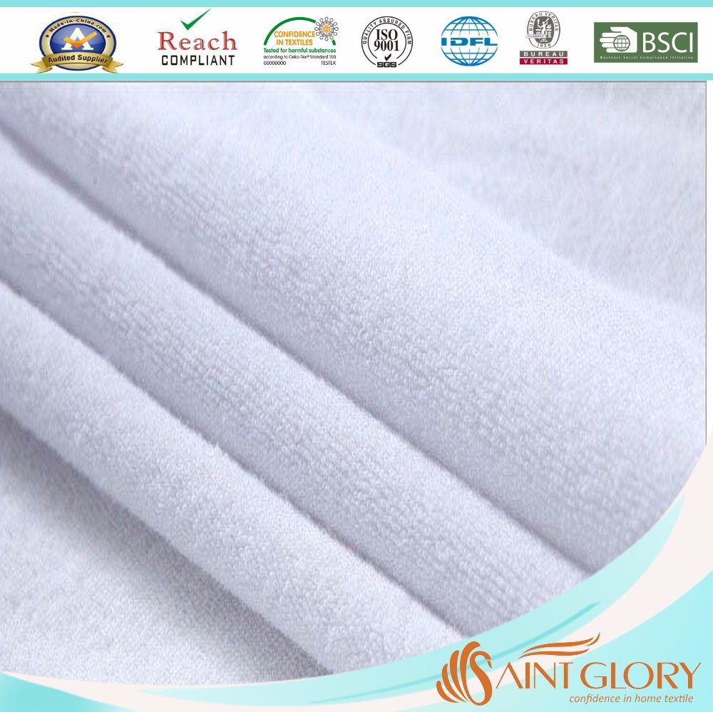 Terry Cloth Fabric TPU Laminated Waterproof Mattress Protector pictures & photos
