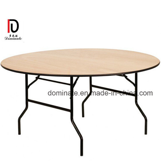 Foldable Can Table Set For 8 Persons Restaurant Furniture Br T022