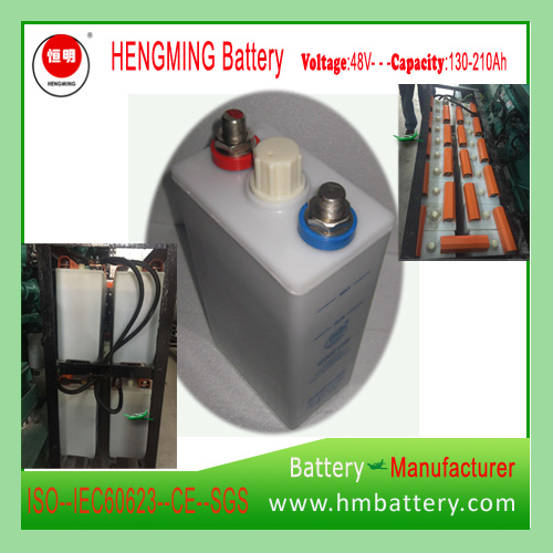 Hengming NiCd Battery 48vgnc150 1.2V 150ah Kpx Series/Ultra High Rate/Alkaline Rechargeable Battery and Sintered Plate Battery for Generator Set