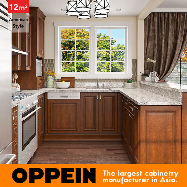12 Square Meters U Shaped American Style Kitchen Design (OP16 PP03)