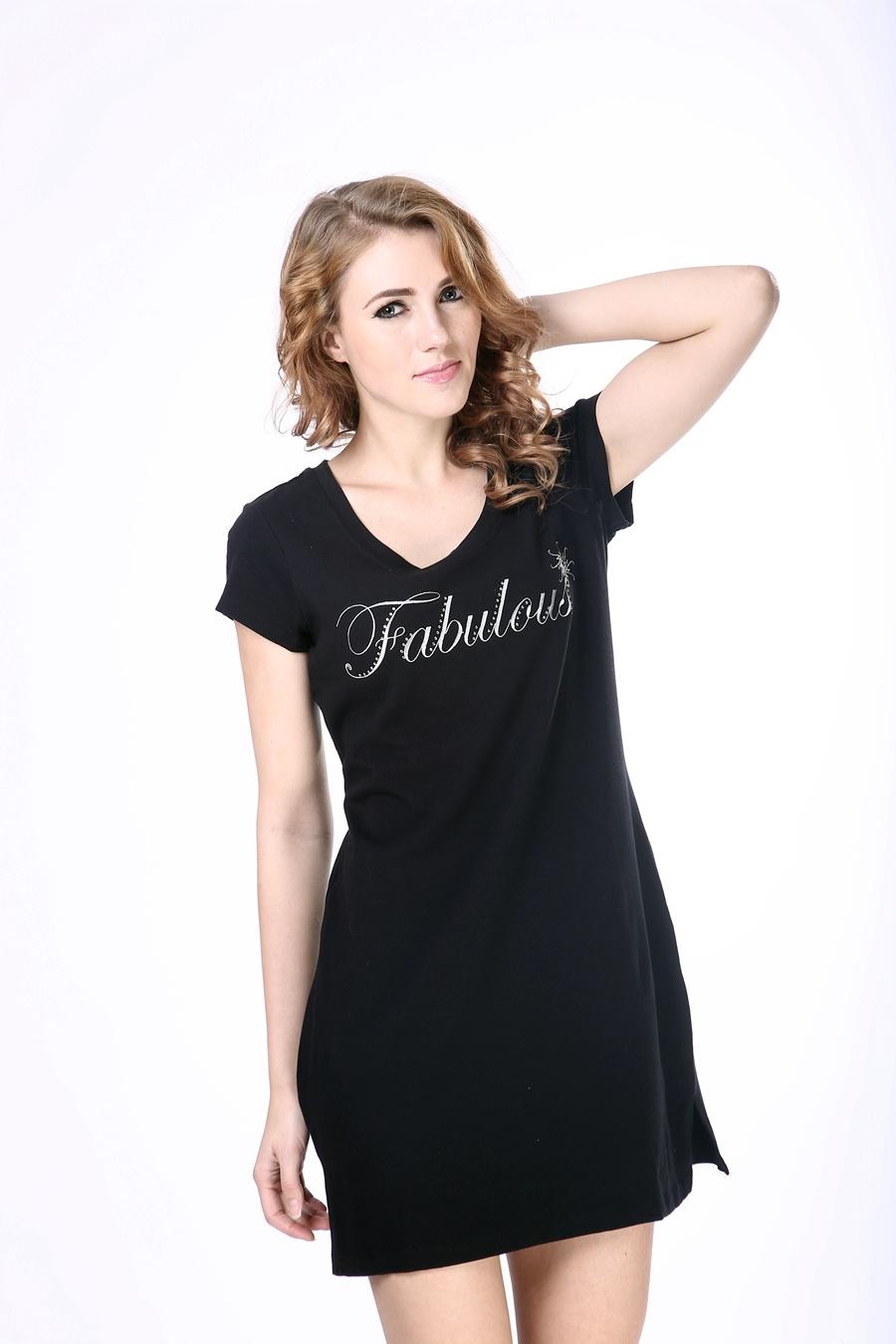 China Womens Print Designer One Piece Dress Simple T Shirt Dress
