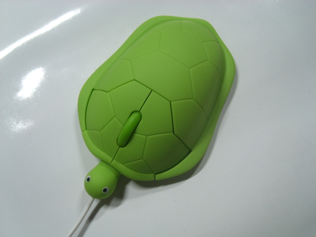 Individuality Dull Polish Little Turtle Wired Optical Mouse