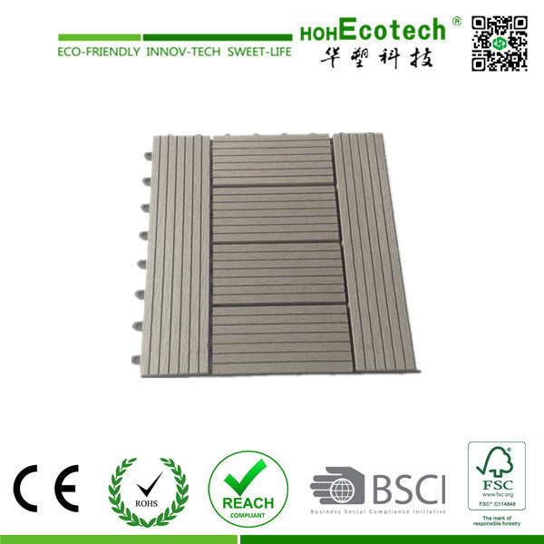Non-Slip Floor Tile/ WPC DIY Tile / Water-Proof Outdoor Decking Tile pictures & photos