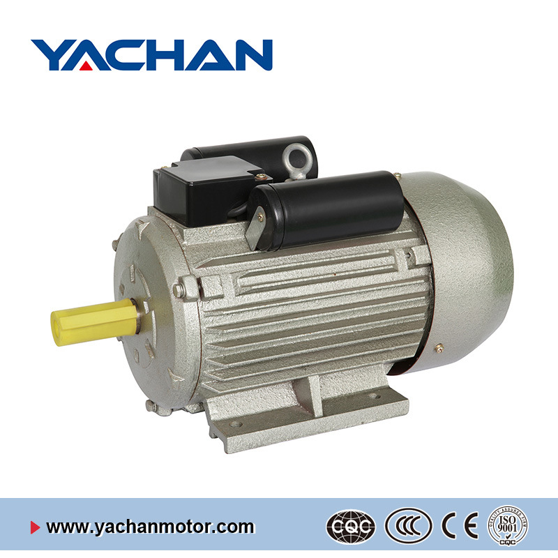 CE Approved Yl Single Phase Grey Color Two-Value Capacitor Electric Motor