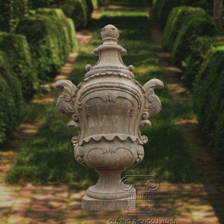 China Stone Marble Garden Planter, Flowerpot Urns, for Garden ...