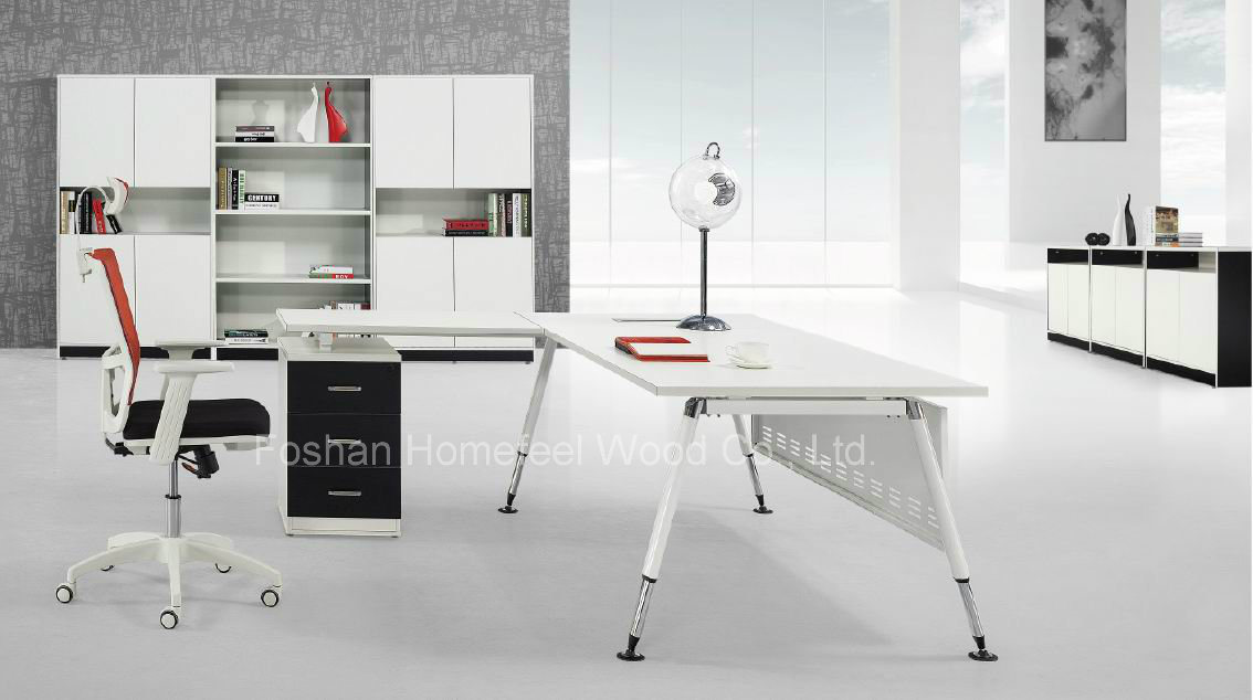 L Shape Modern Manager Desk Business Office Furniture (HF AF018)