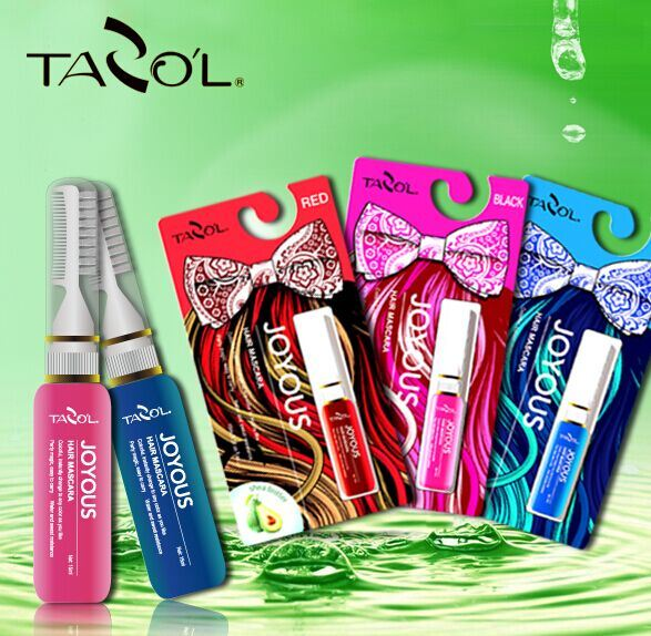 1 Second Temporary Fashion Color Hair Mascara Bright Blue Color Cream