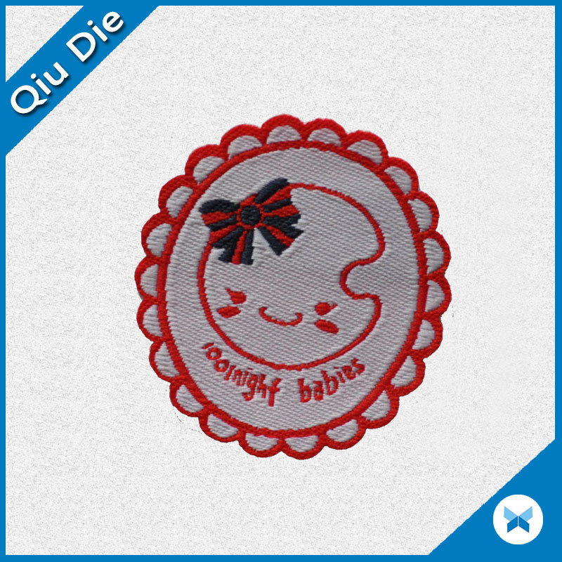Designer Clothes Labels | China Designer Clothes Emblems Round Blue Background Clothing Label