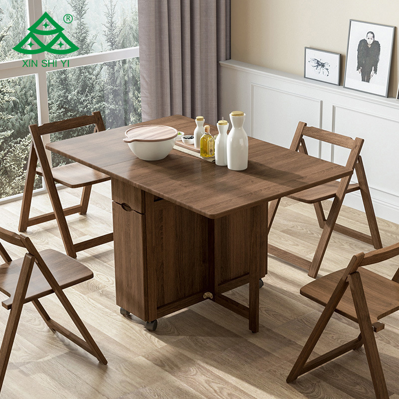China Simple Foldable Dining Table Set, Folding Dining Room Table