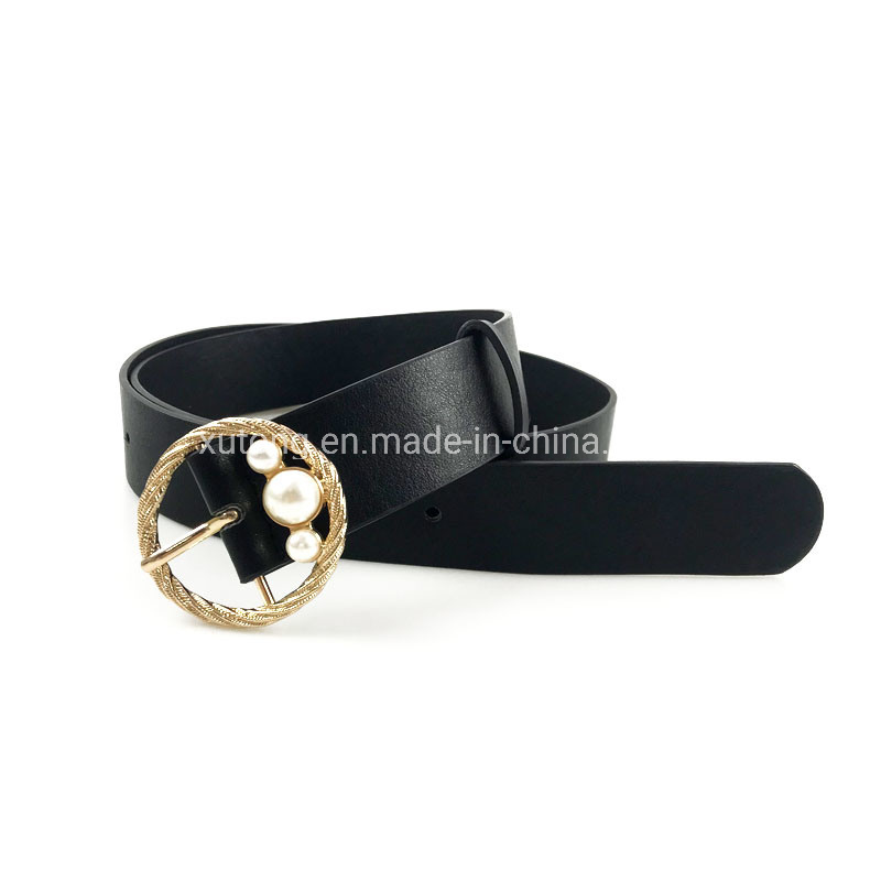 Fashiona Women′s PU Belt with Pearl Leather Women Waist Belts pictures & photos