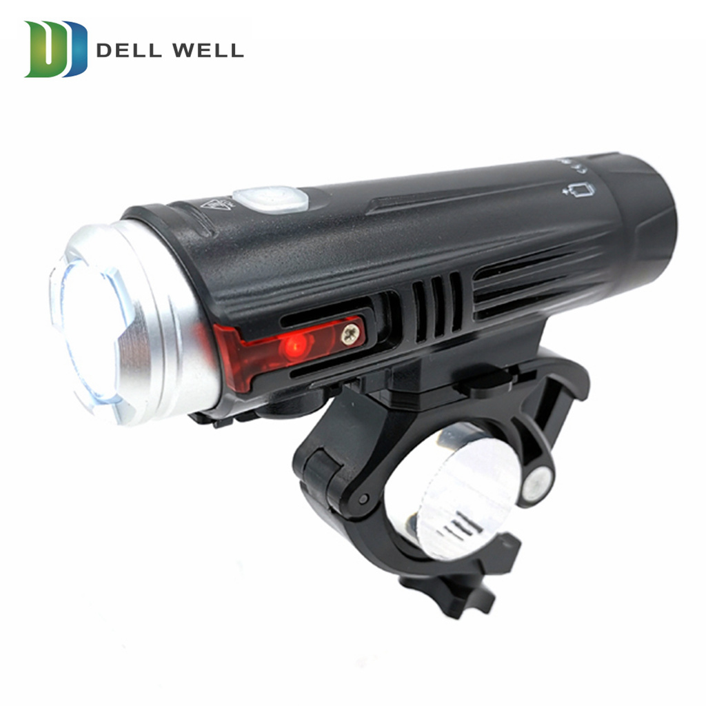 Durable USB Rechargeable Bycicle LED Front Light Headlight Bike Lamp Camping US