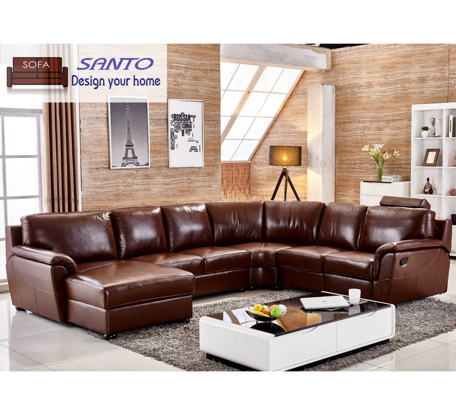 - China Latest Sectional Recliner Leather Automatic Recliner Home