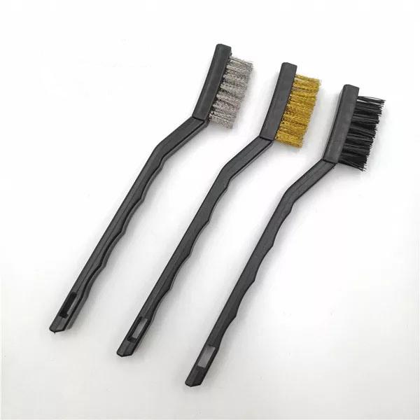 WIRE BRUSH SET SMALL MINI MICRO STEEL BRASS NYLON DIY METAL RUST REMOVE ALI