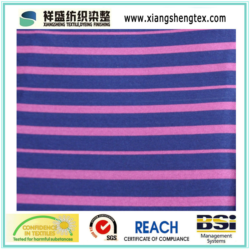 Yarn Dyed Spun Silk and Cotton Both-Side Twill Stripe Style