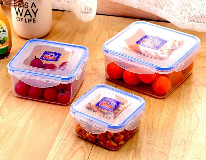 China Food Grade Square Shape Vacuum Plastic Food Storage Box Airtight Food  Storage Container With Lids Storage Bins   China Food Grade Food Container,  ...