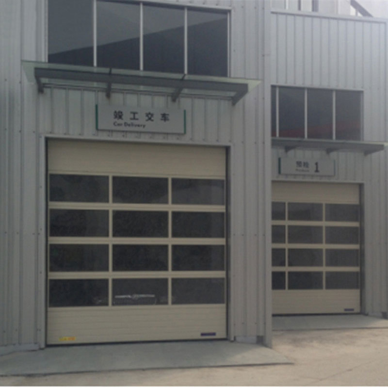 China Deluxe Glass Sectional Garage Vertical Sliding Overhead Door