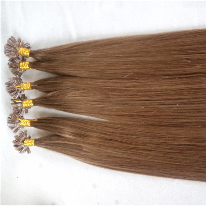 China Wholesale U Tip Pre Bonded Hair Extension Brazilian Remy Hair