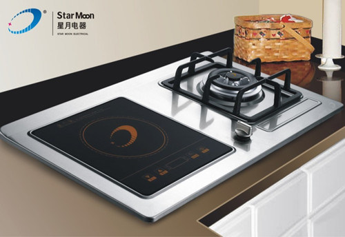 china gas stove cum induction cooker 750b china portable induction cooker built in cookware. Black Bedroom Furniture Sets. Home Design Ideas