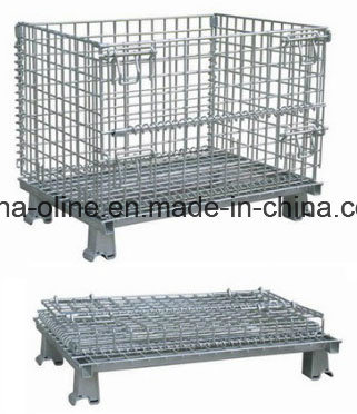 Stackable Folded Storage Steel Mesh Container pictures & photos
