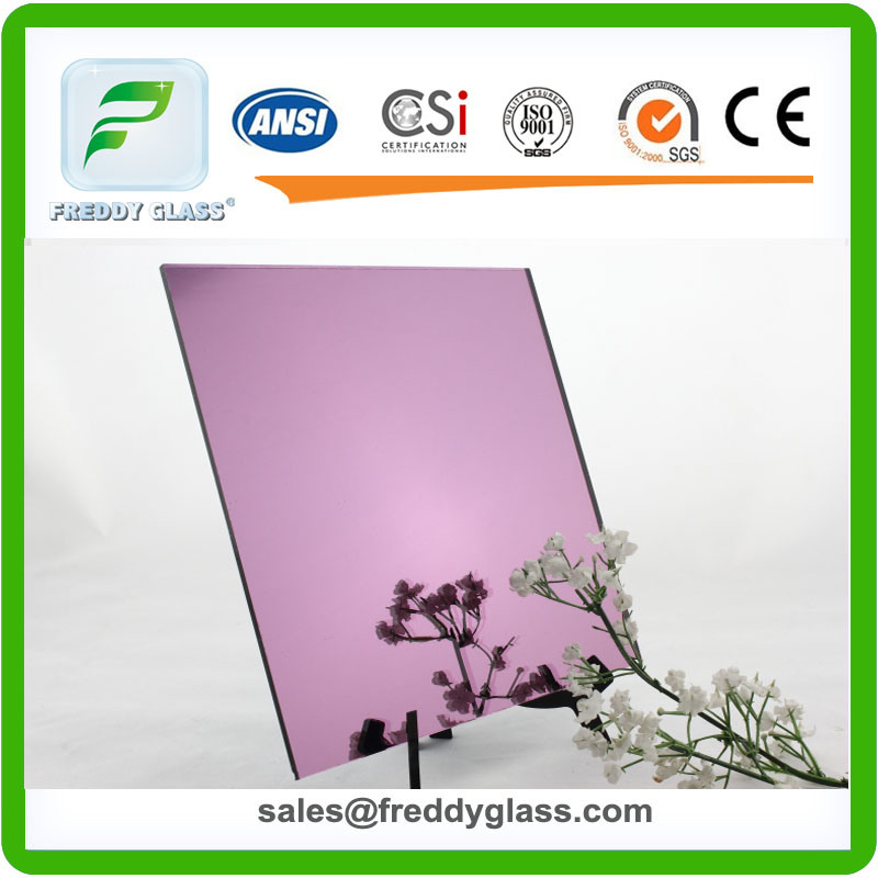 1.5mm-6mm Purple Aluminum Color Mirror/Thin Tinted Silver Mirror/Decorative Mirror