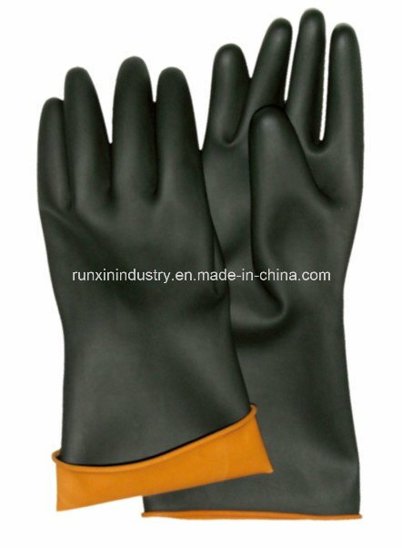 Black Industrial Latex Glove 6004f
