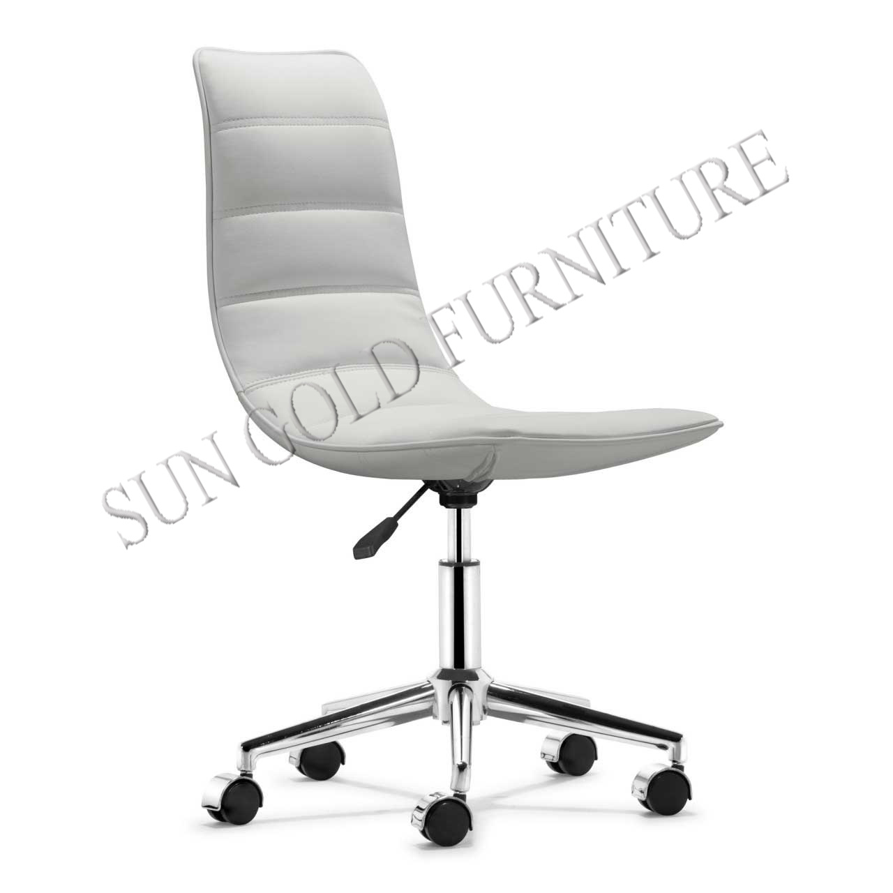 Hot Item Sz Ocy126 Armless White Stylish Office Chair Arc Shaped