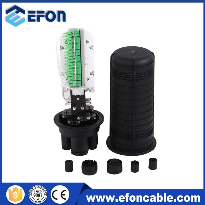 Dome Type 72f FTTX Fiber Optic Splitter Splice Closure with PLC Splitter