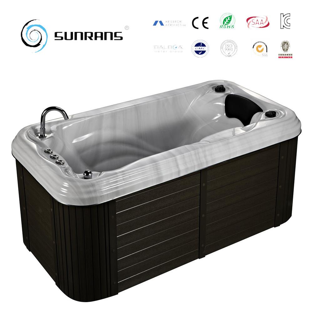 China Rectangular Water Jet Whirlpool 1 Person Mini Hot Tub Outdoor ...