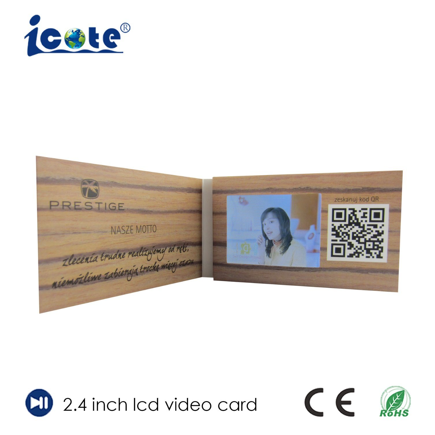 China 24 Inch Business Card With Tft Lcd Video Screen China Lcd