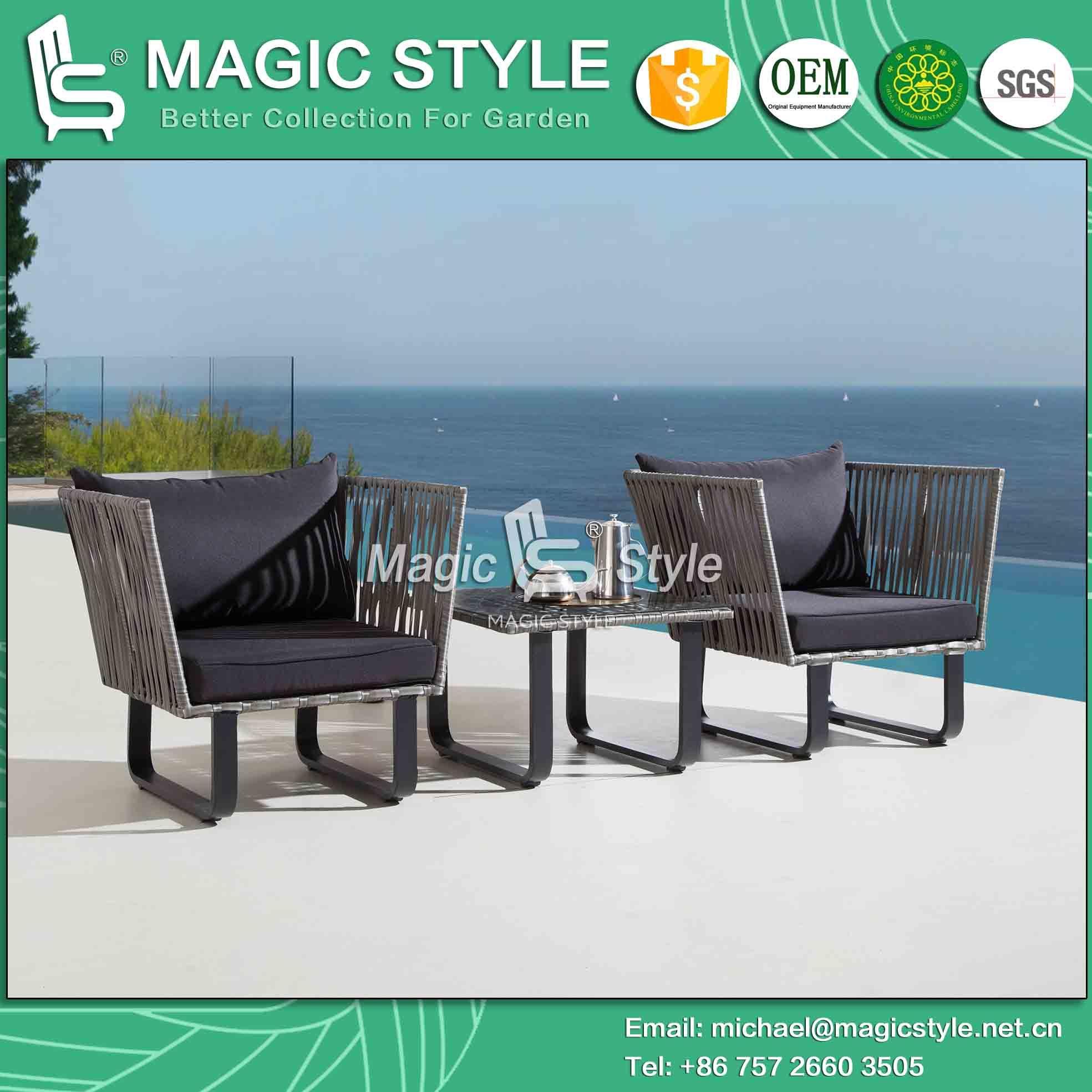 China Garden Wicker Corner Sofa Set With Cushion Patio 3