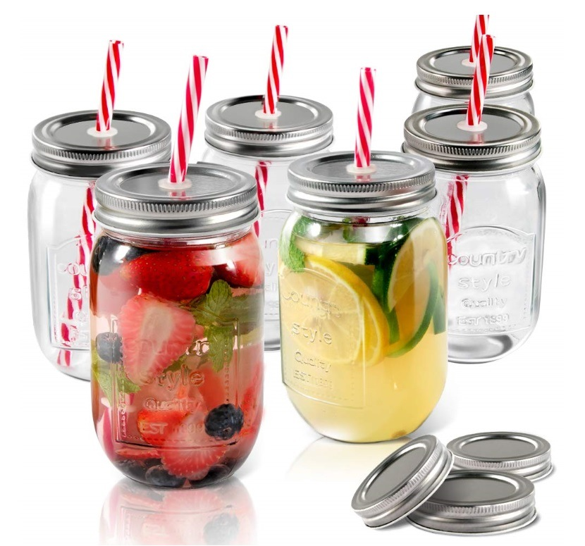 Glass Mason Jar with Metal Lid pictures & photos
