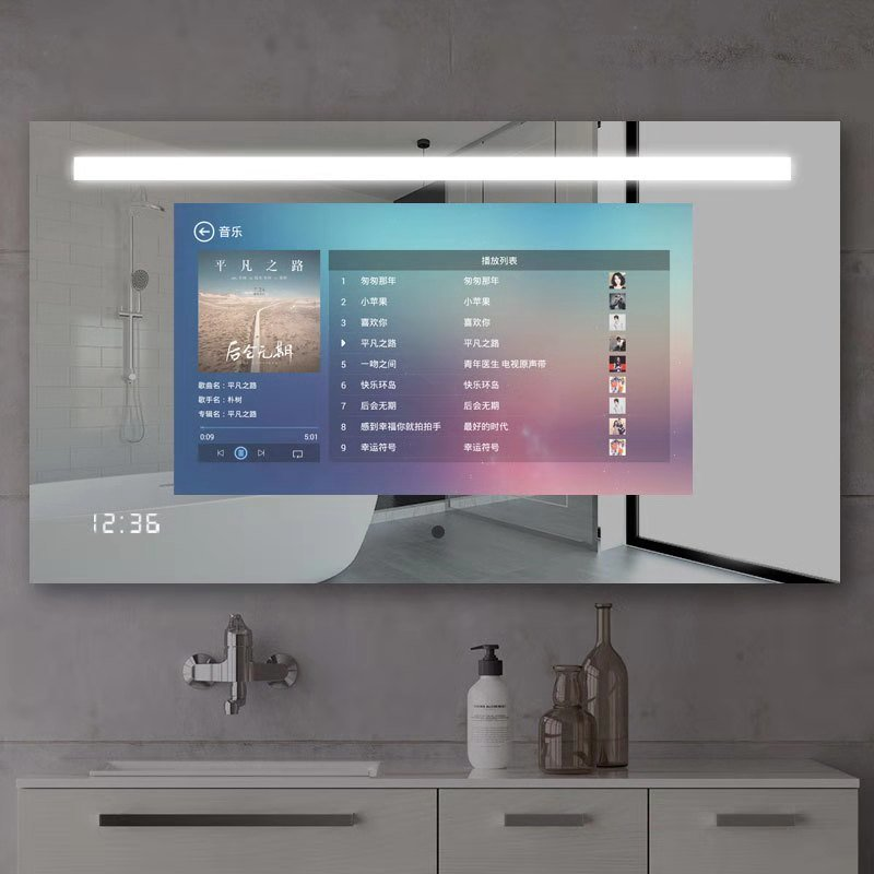 China 21 5 Inch Bathroom Smart Wall Led Light Magic Mirror Display With Touchscreen For Hotel Home China Touch Screen Mirror And Lcd Ad Player Price