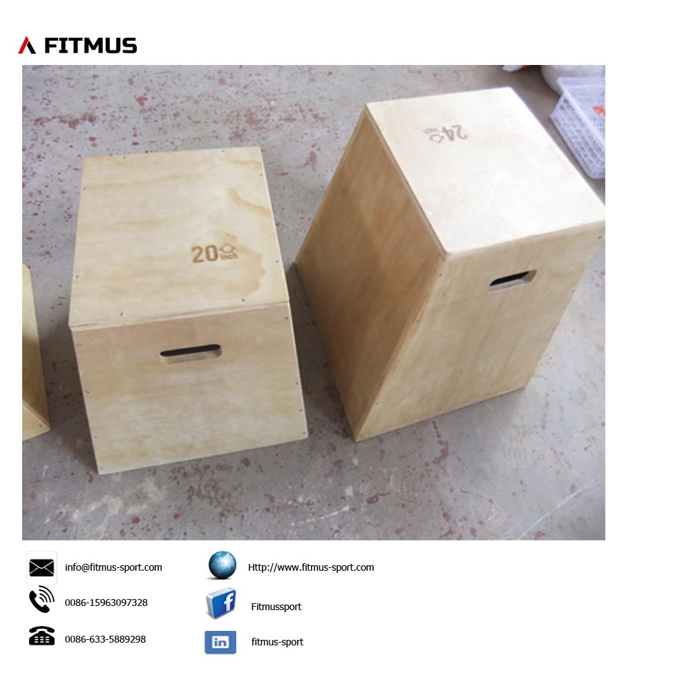 Wooden Trapezium Plyo Box 12inch 18inch 24inch 30inch Crossfit Workout. pictures & photos