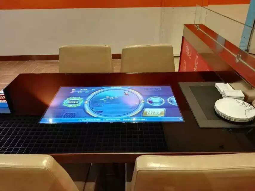 China 50-Inch Touch Screen Smart Coffee Bar Table LCD
