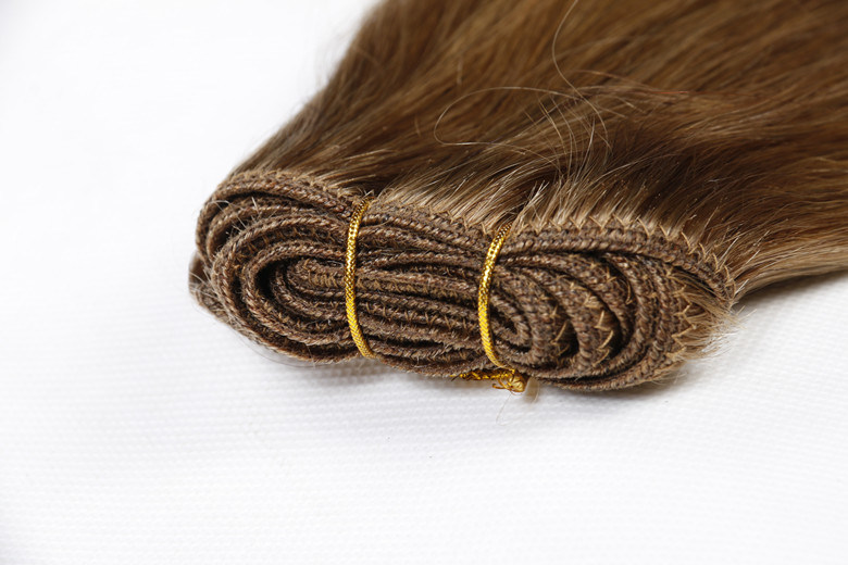 Premium Quality 100% Human Hair Extension Real Remy Hair Silky Straight Weaving 16inch Brown Color
