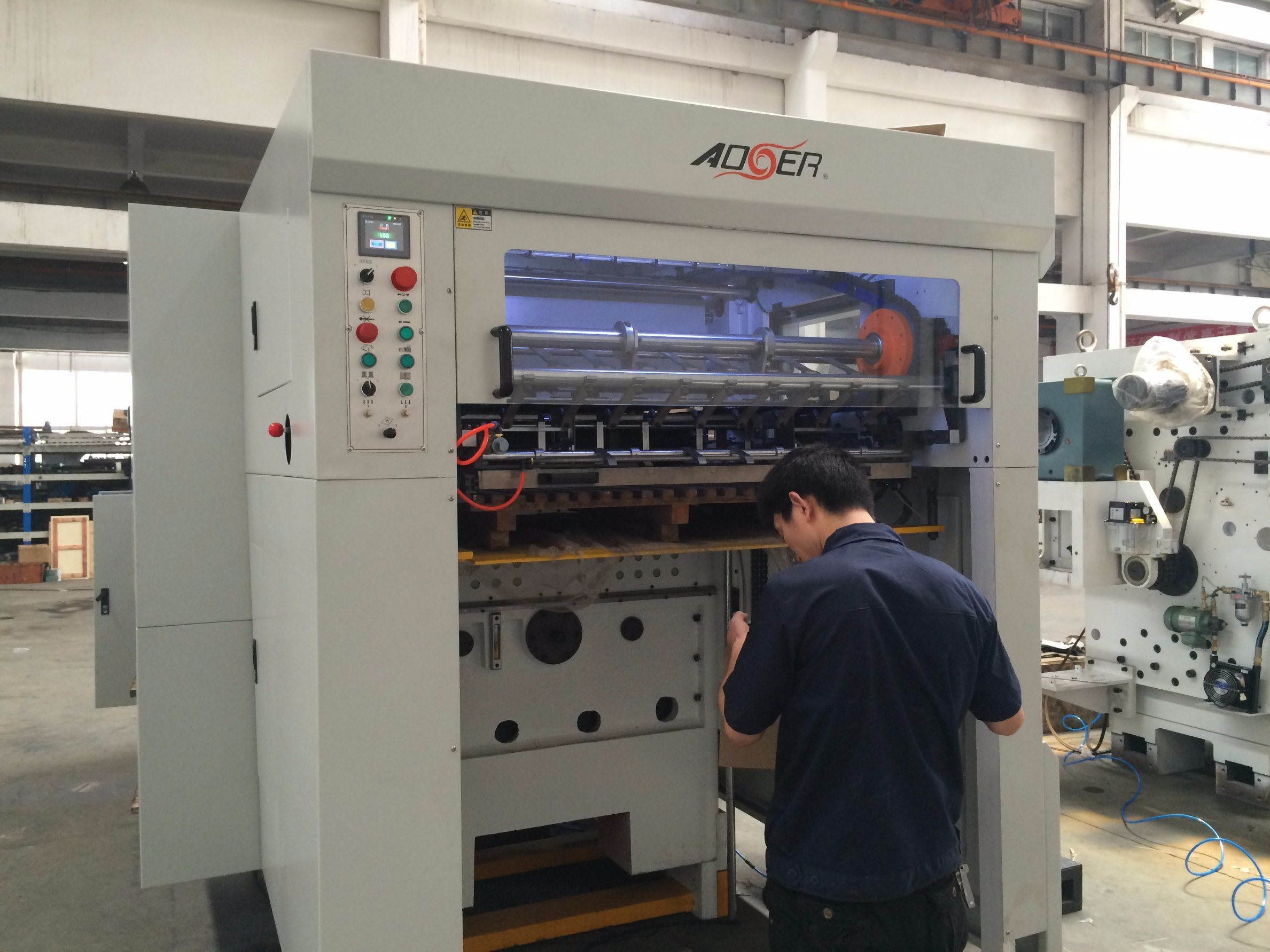 Corrugated Paper Automatic Die Cutting Machine (AEM-1080)