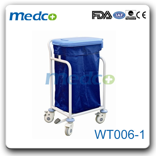 Double Bin Foot Step Cleaning Trolley