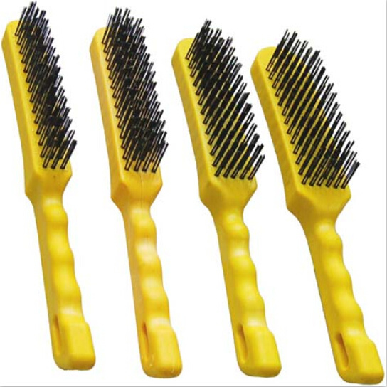 Hand Tools Wire Brush Set Plastic Handle Heavy Duty Industrial pictures & photos